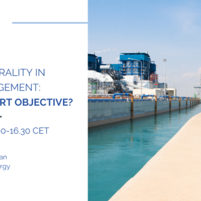 MEP Water Group Online Webinar: Energy Neutrality in Water Management, a Water-Smart objective? 31 May 2021